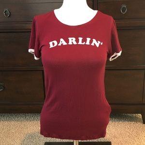 Maroon Darlin' T-Shirt Size M